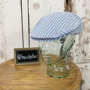 Vintage j. Crew striped newsboy hat -UNISEX-